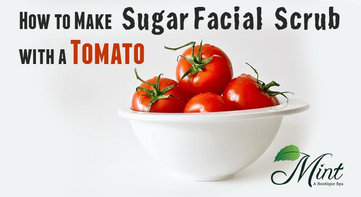 How-to-make-sugar-facial-scrub-with-a-tomato